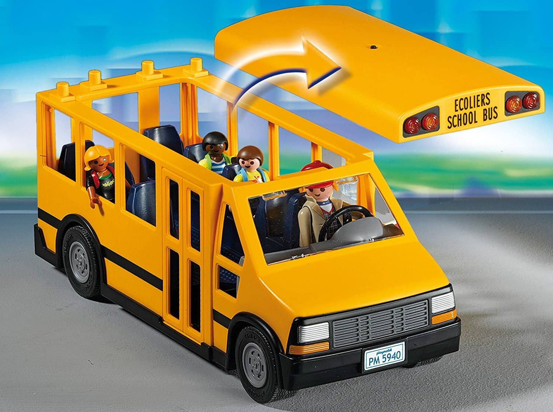 Ônibus escolar playmobil school bus yellow amarelo bebe importados