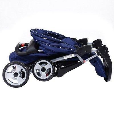 Foldable Baby Kids Travel Stroller Newborn Infant Buggy Pushchair Child Blue